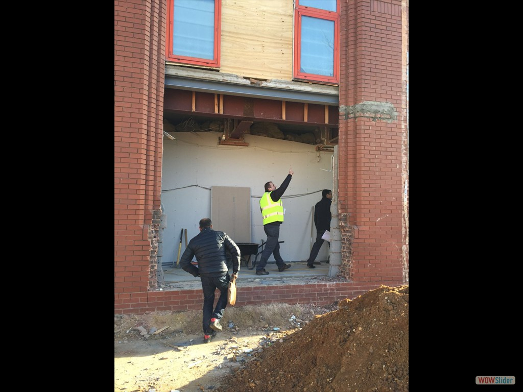 17/02/16 Demolition work commences